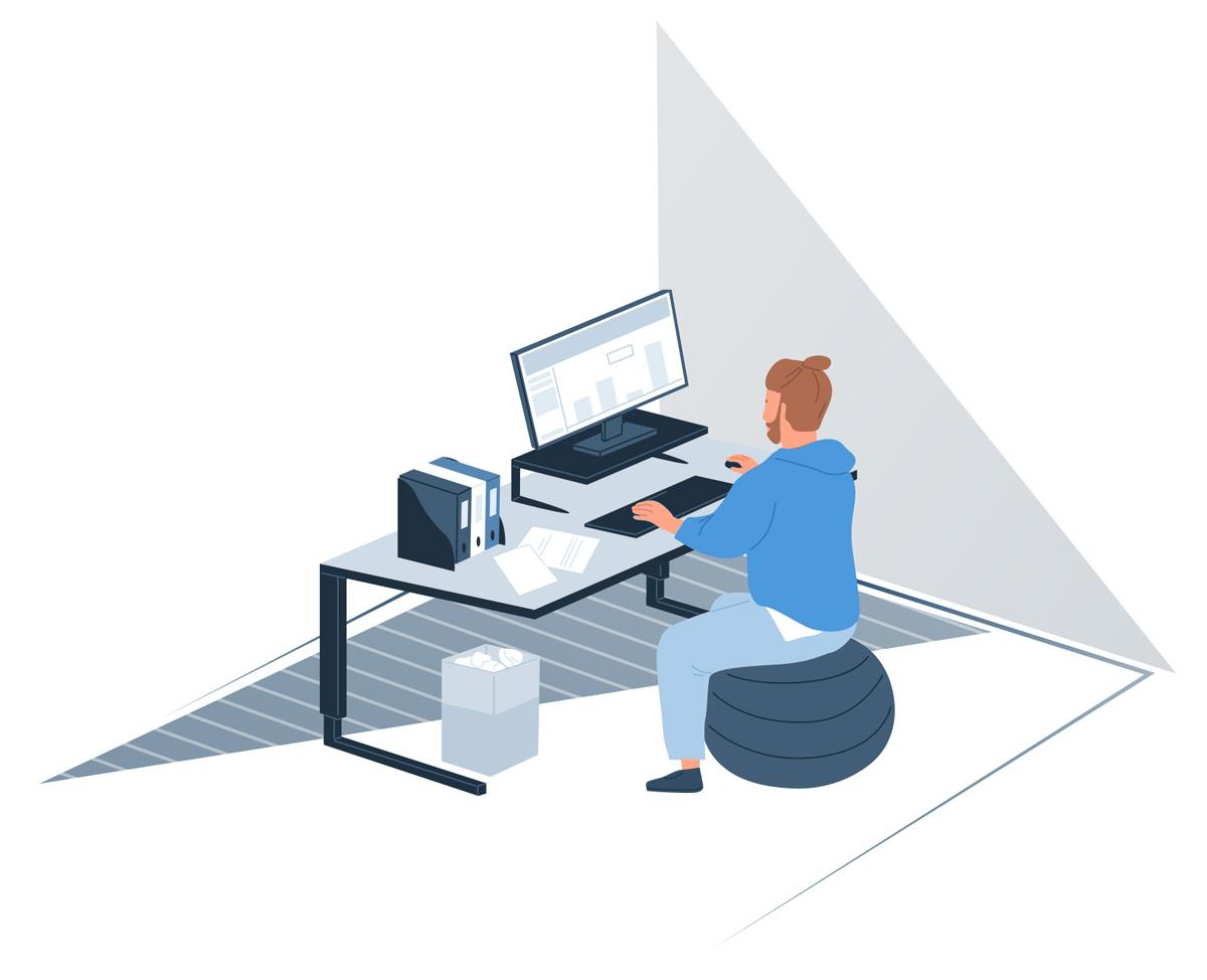 Home Office - Ergonomic working