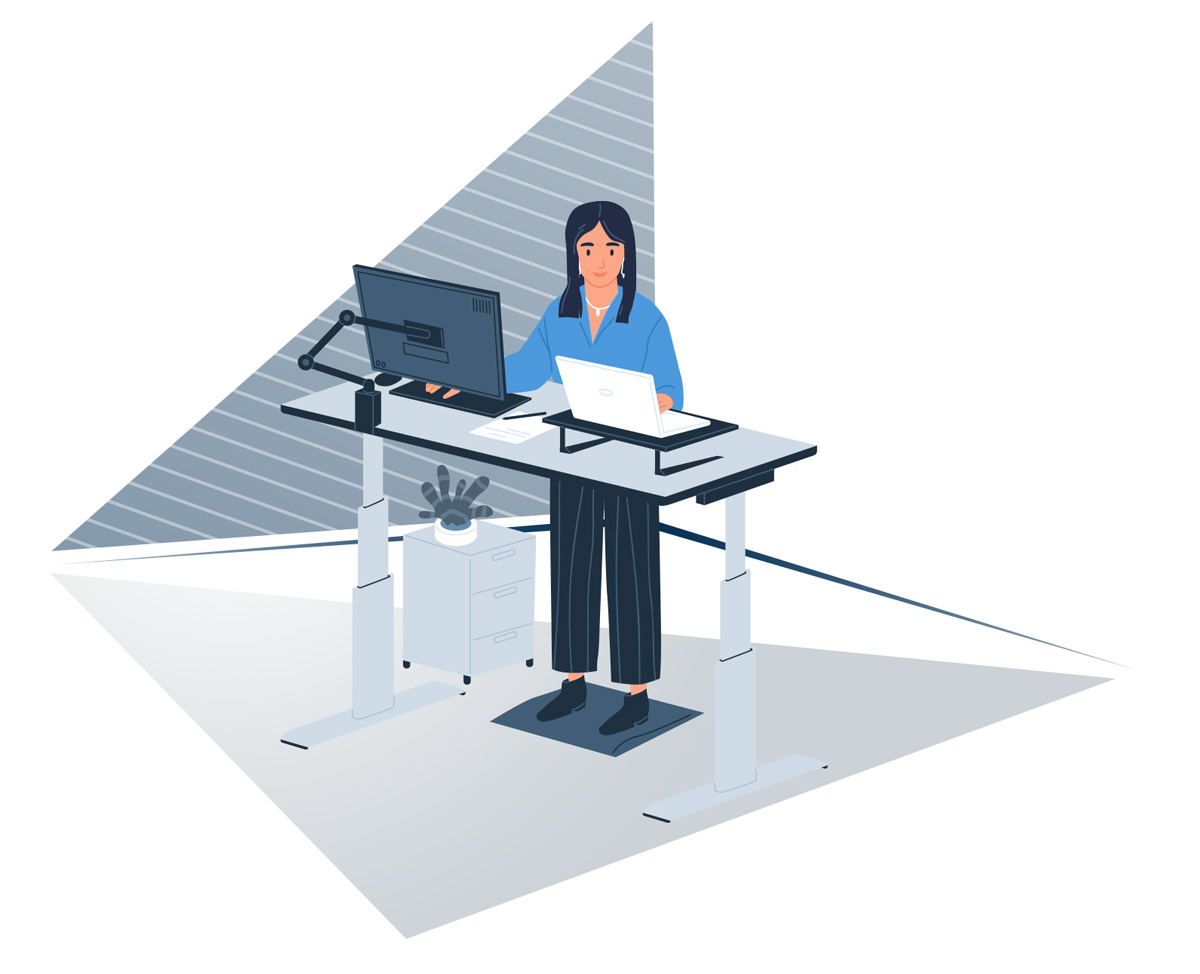 Home Office - Working while standing