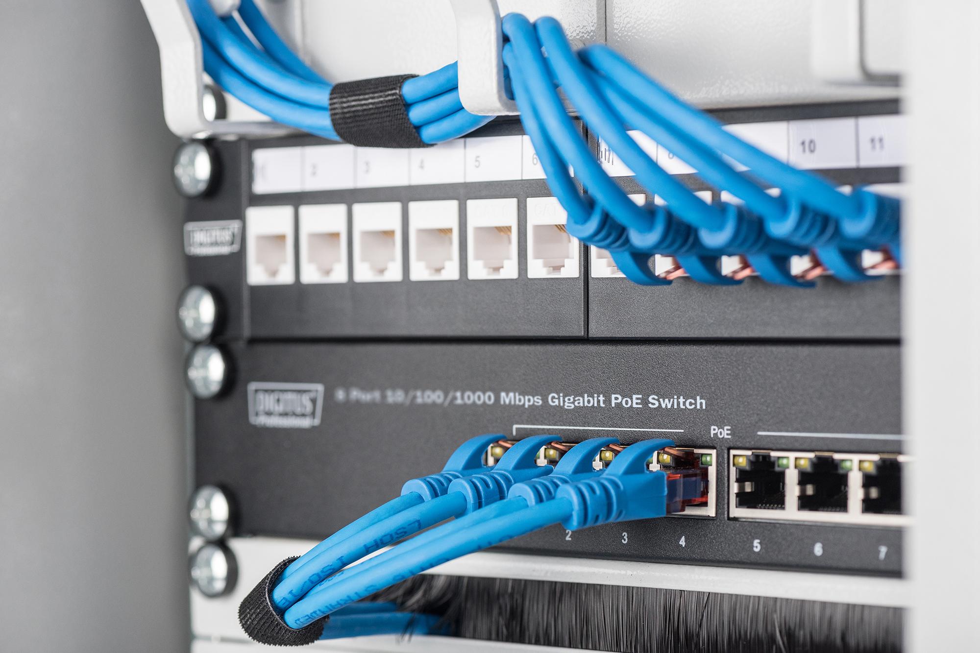 DIGITUS 10-inčni 8 portova  Gigabit desktop ethernet preklopnici
