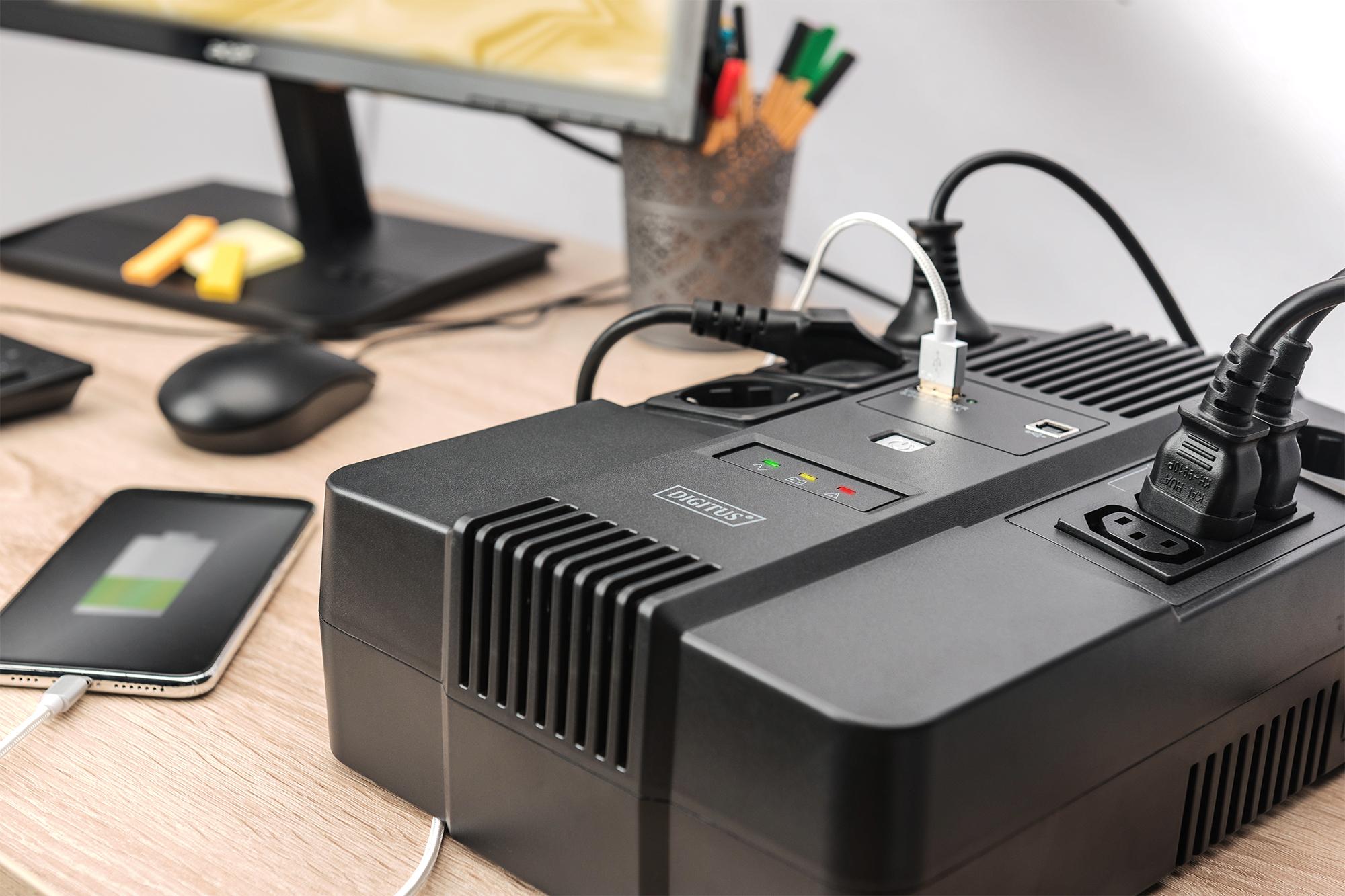 DIGITUS UPV, 800VA/480W, LED